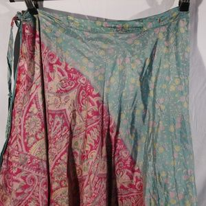 Dresses & Skirts - Silk Wrap Around Skirt - Made in India - One Size